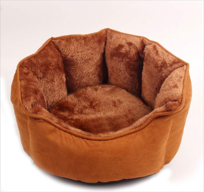 GZDXHN Dog House Nest Pad Autumn And Winter Warm Soft Cotton Velvet Short Hair Octagonal Nest Pet Supplies Nest L