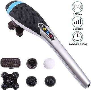 ZZYYZZ Masajeador eléctrico de Mano portátil, masajeador de Cintura inalámbrico, masajeador de Espalda, 6 Cabezas de Masaje de conversión, para Todo el Cuerpo
