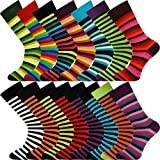 Mysocks® Bulk Kaufen Herren 15 Paar gestreifte Socken