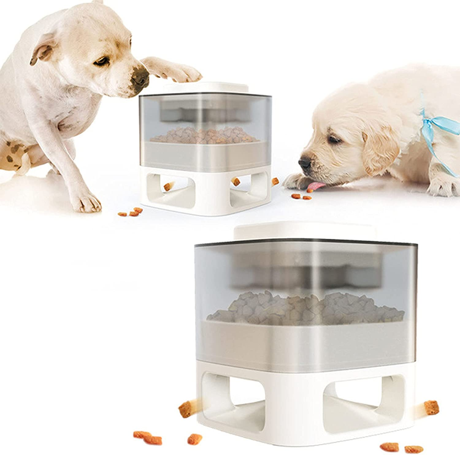 WFGZQ Fun Feeder Square Pet Surprise price Foo Dog Slow Bowl Automatic Super beauty product restock quality top!