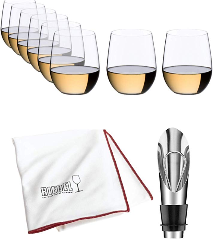Riedel O Wine Tumbler Viognier Chardonnay Pay For 6 Get 8 Includes Wine Pourer With Stopper And Riedel Polishing Cloth