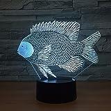 Cambio de Color de tilapia Lámpara de pez Carpa Africana lámpara de Mesa con botón táctil de Carga niños increíble Regalo Decorativo
