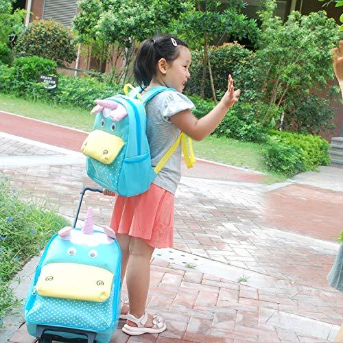 Yodo Zoo 3-Way Kids Suitcase Luggage or Toddler Rolling Backpack with wheels, Medium Unicorn