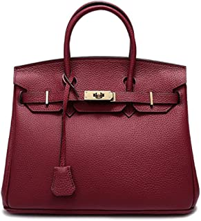 Fine Bag/Litchi Leather Bag Handbag Ladies Classic Elegant Bag Shoulder Diagonal Multi-Pocket Capacity