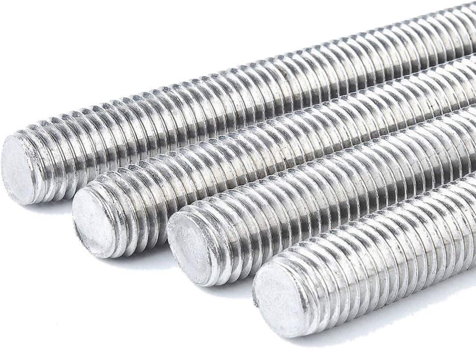 Beduan Zinc Plated Steel M22-2.5 x 3.3ft Length Long Screw Metric Fully Threaded Rod