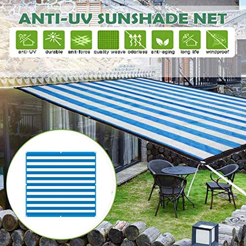 PYXZQW Shade Cloth UV Resistant Sun Shade Outdoor Garden Patio Insulated Awning Canopy Shade Cloth,Blue,3x3m