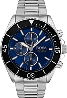Hugo Boss Mens Silver Quartz Watch, Chronograph Display and Stainless Steel Strap 1513704