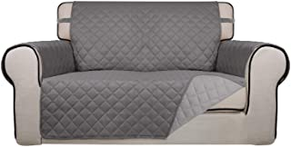 PureFit Reversible Quilted Sofa Cover, Water Resistant Slipcover Furniture Protector, Washable Couch Cover with Non Slip F...