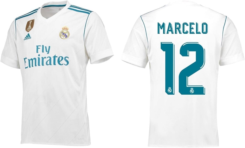 Trikot Herren Real Madrid 2017-2018 Home WC - Marcelo 12 B0759R55VX  Verrückter Preis