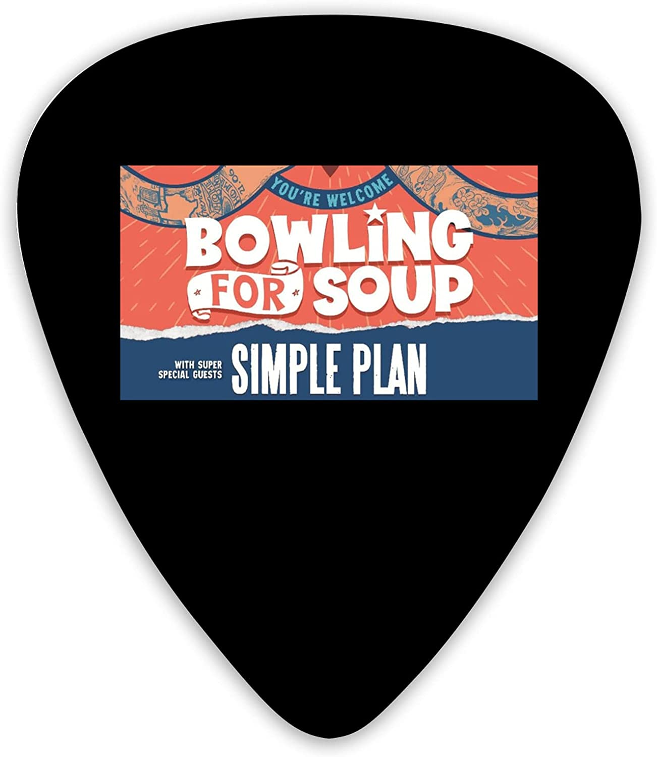 Berniellis Bowling For Direct store Bombing new work Soup Personalized Guitar Pick