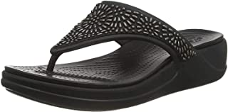 Monterey Diamante Wedge Flip Black 7
