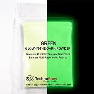 Green Glow in the Dark & UV Powder; 100-150 Microns (0.5 OZ)