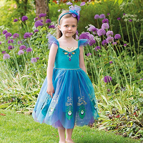 Costume Peacock Fairy turquoise/purple/gold - 6 à 8 ans