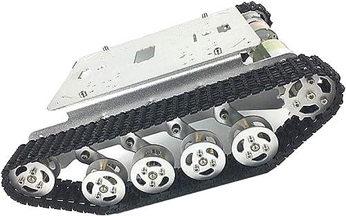 F Fityle Aluminium Roboter Tank Chassis Smart Auto Plattform DIY Kit Mit Gleichstrom Motor 6 V-12 V Für Fahrzeug
