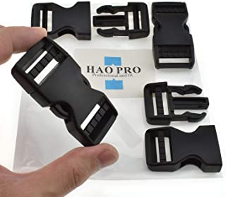 """SGH Pro Quick Side Release Buckles 1"""" Wide Dual Adjustable No Sewing Clips Snaps Heavy Duty Plastic Replacement for Nylon ..."""