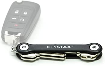KeyStax - Compact Key Holder and Keychain Organizer (up to 8 Keys)