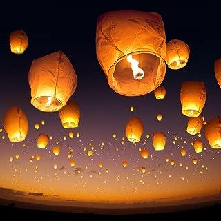 Always A Bargain 4U 10 Sky Lanterns - White