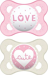 Best MAM Attitude Collection Pacifiers (2 pack, 1 Sterilizing Pacifier Case), MAM Pacifier 0-6 Months, Baby Pacifiers, Baby Girl, Best Pacifier for Breastfed Babies, Designs May Vary Review