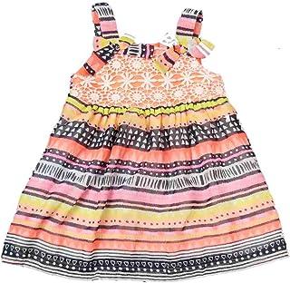 Blueberi Infant /& Toddler Girls Black Polka Dots /& Pearls Ruffled Dress