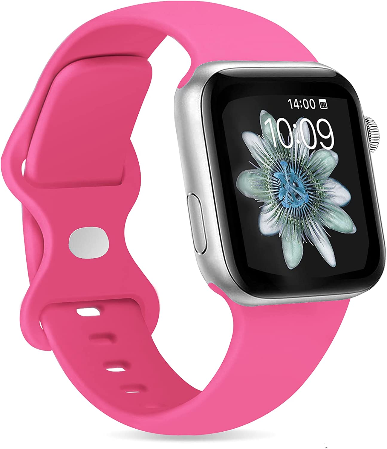 PNCHEN Sport Band Compatible with Apple Watch Bands 38mm 40mm 42mm 44mm Soft Silicone Strap Wristbands for iWatch Series 6 5 4 3 2 1 SE Women Men
