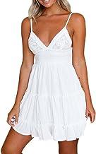 Vestido de Verano de Mujer, Dragon868 2018 Mujeres Adolescentes niñas Verano Backless Mini Vestido Blanco Playa Vestidos