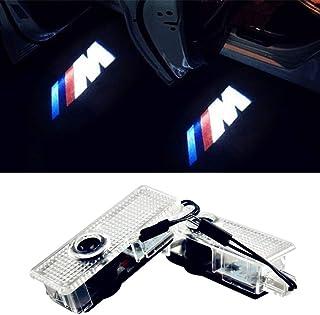 NMXPW 2個セットドア高輝度のLEDチップ BMW M3 ロゴ カーテシランプ カーテシライト ゴーストシャドーライト