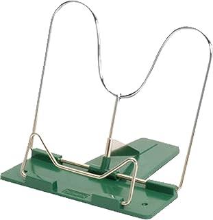 Herlitz - Atril de Lectura con Barra de Metal y calcetín de plástico, Verde, 1 Leseständer