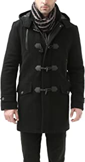 VITryst-Men Classic-Fit Removable Blend Toggle Woolen Parka Jackets
