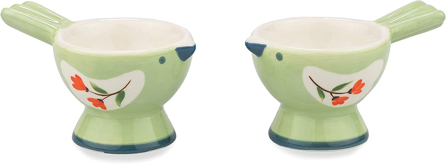 WD- Lot of 2 Pcs Wholesale Cute Bird cup Ceramic boiled egg hol soft Shape Ranking TOP1
