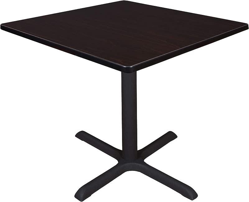 Cain 36 Square Breakroom Table Mocha Walnut