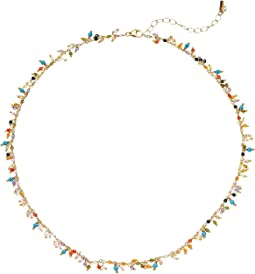 Multicolored Crystal Short Necklace