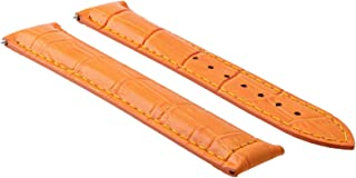 20MM LEATHER STRAP WATCH BAND FOR 41MM OMEGA SEAMASTER PLANET OCEAN WATCH ORANGE