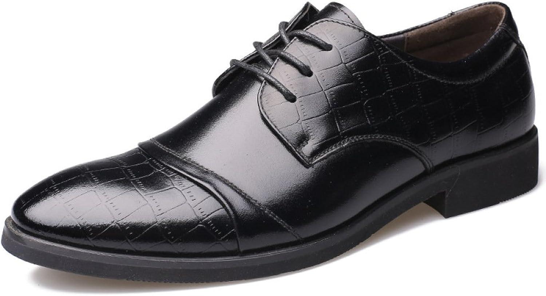 LEDLFIE Men's Real Leather shoes Classic Business Suits Lace-up shoes