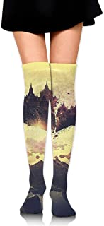 Abstract Tree Calcetines largos hasta la rodilla unisex Botas Calcetines largos Longitud 60cm