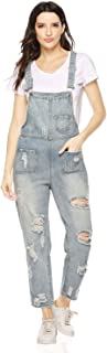 Soojun Women's Cotton Casual Printed Baggy Bib Overalls