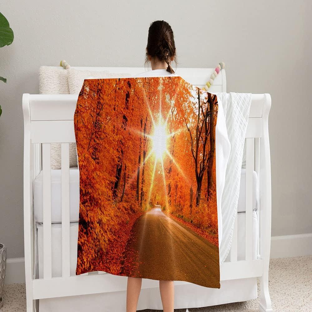 GANTEE Autumn Sunrise Super Soft Fleece In stock Cozy Indefinitely and Perfect Blanket