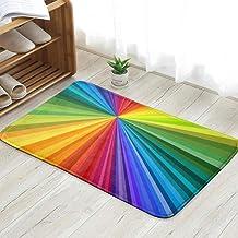 Vivid Rainbow Colored Swirl Twisting Personalized Custom Doormats Indoor/Outdoor Doormat Door Mats Non Slip Rubber Kitchen...