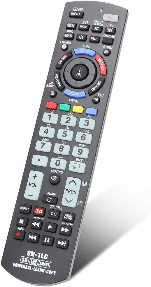 Gvirtue Universal Replacement Remote Control SN-1LC Compatible for All Sony Bravia Smart TV-HDTV 3D LCD LED OLED UHD 4K HDR TVs, with Netflix, You Tube Buttons and Learning Function
