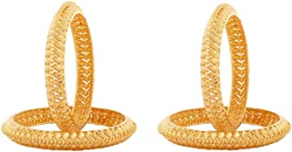 Fashion Jewelry Indian Bollywood Gold Plated Traditional Bridal Combo Bracelet Bangle Set