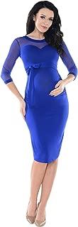 Purpless Maternity Sheer Mesh Heart Shaped Cleavage Women Pregnancy Dress D012