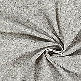 Fabulous Fabrics Feinpiqué Melange Leinen Mix – grau —