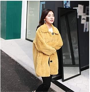 Bigidols Loose Fur Wool Coat Medium Long Imitation Velvet Fur Coat