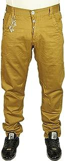 Mens ETO Curved Leg Chino Jeans Designer Fashion Tan Brown Pants Size 28-38