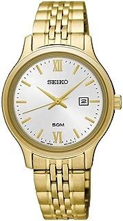 Seiko Classic Silver Dial Ladies Gold Tone Watch SUR704P1
