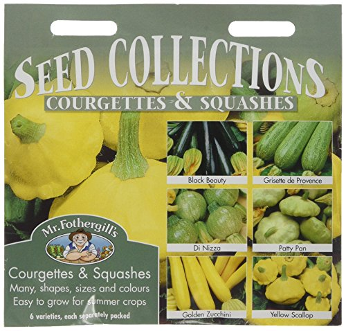Mr Fothergill's 17627 Vegetable Seeds, COURGETTES & Summer SQUASHES Collection