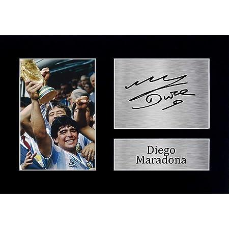 HWC Trading Diego Maradona A4 Sin Marco Regalo De Visualización De Fotos De Impresión De Imagen Impresa Autógrafo Firmado por Argentina Los Aficionados Al Fútbol