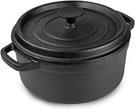 Cooking Pots Pans Soup pot stew pot cast iron uncoated double-eared stew soup non-stick pan cooker with Mother's Thickenin...