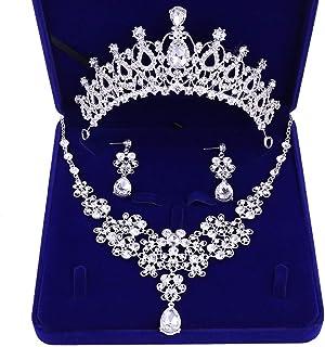 Qiuxiaoaa Pendientes Mujer Dorado Tono Barroco Perla Hoja Flor Real Pendientes Boda joyer/ía Nupcial Oro