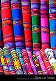 Notes et idées: Carnet de notes | carnet de croquis | livre de dessin tissus châles colorés écharpe pérou mexique coloré teinture | format A5, blanc. Durable et neutre pour le climat.