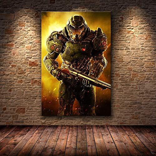 Puzzle 1000 piezas Juego Clásico Halo Videojuego Ultimate Doom Art Picture puzzle 1000 piezas adultos Rompecabezas de juguete de descompresión intelectual educativo divertido juego50x75cm(20x30inch)
